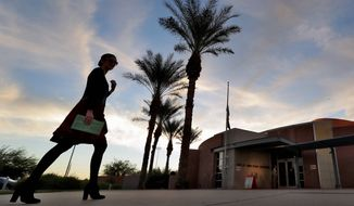 Voters in Arizona will be casting ballots in a marquee U.S. Senate race and several crucial House contests next year, but the state's numbers show that neither party is doing particularly well in winning them over. (Associated Press/File)