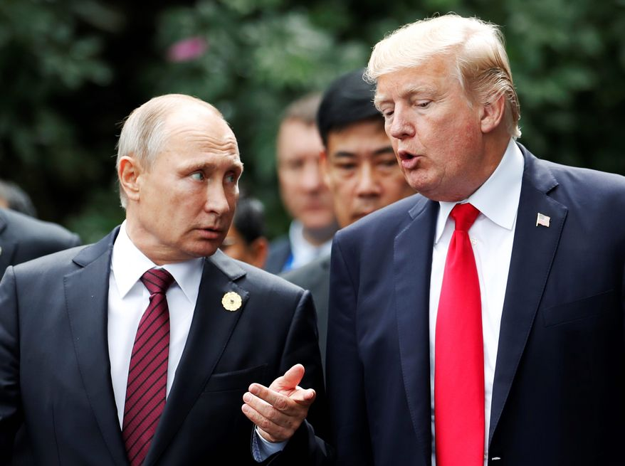 Russian President Vladimir Putin didn't care about a victory by Donald Trump or Hillary Clinton in the U.S. presidential election, according to a consensus. Moscow's goal was to sow doubt in the integrity of the Democratic process. (Associated Press/File)
