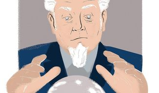 Illustration on predictions for the coming year by Linas Garsys/The Washington Times