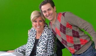 CNBC Director Dan Switzen with host Suze Orman.(Source: Twitter)