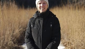In this Dec. 12, 2017, photo, Karen Oberhauser, the new director of the UW-Madison Arboretum in Madison, Wis. poses for a photo. (Amber Arnold/Wisconsin State Journal via AP)
