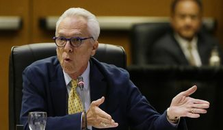 Regent Norman Pattiz who was caught on tape in 2016 asking an employee if he could hold her breasts has decided to resign amid growing calls that he step down. In a resignation letter to Regents Chair George Keiffer, first reported by the San Francisco Chronicle, Pattiz said that after 16 years on the board he would retire in Feb. 2018. (AP Photo/Eric Risberg, File)