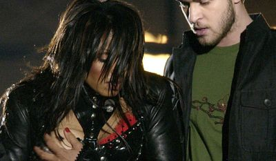 """Super Bowl XXXVIII halftime show controversy - broadcast live on February 1, 2004 from Houston was noted for a controversial performance in which Janet Jackson's breast, adorned with a nipple shield, was exposed by Justin Timberlake for about half a second.  The incident, sometimes referred to as Nipplegate. Along with the rest of the halftime show, it led to an immediate crackdown and widespread debate on perceived indecency in broadcasting. The incident made """"Janet Jackson"""" the most searched term, event and image in internet history, as well as the most searched person and term of 2004 and 2005. The incident also broke the record for """"most searched event over one day"""". Jackson was later listed in the 2007 edition of Guinness World Records as """"Most Searched in Internet History"""" and the """"Most Searched for News Item"""". It became the most watched, recorded and replayed television moment in TiVo history.The incident also coined the phrase """"wardrobe malfunction"""", which was later added to the Merriam-Webster's Collegiate Dictionary."""