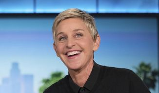 "In this Oct. 13, 2016, file photo, Ellen Degeneres appears during a commercial break at a taping of ""The Ellen Show"" in Burbank. (AP Photo/Andrew Harnik, File)"