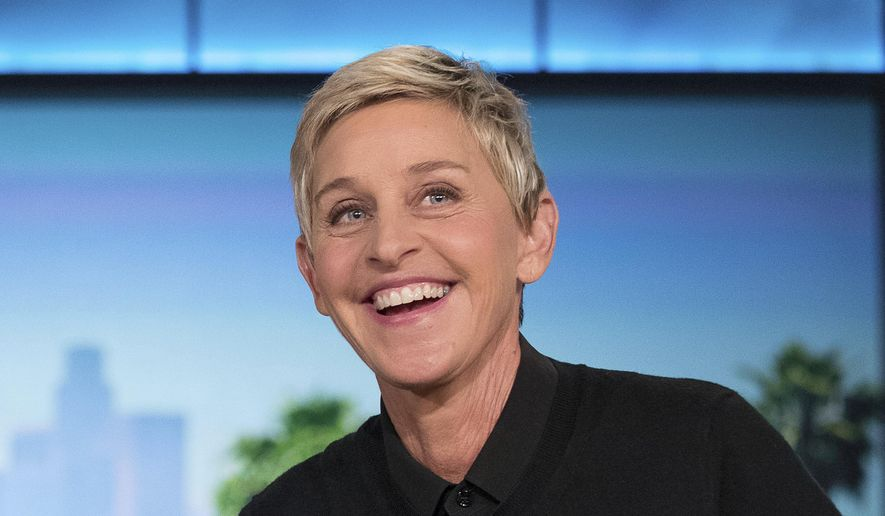 """In this Oct. 13, 2016, file photo, Ellen Degeneres appears during a commercial break at a taping of """"The Ellen Show"""" in Burbank. (AP Photo/Andrew Harnik, File)"""