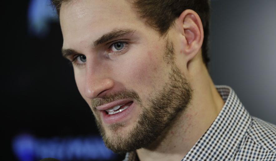 Washington Redskins quarterback Kirk Cousins speaks during a news conference after an NFL football game against the New York Giants Sunday, Dec. 31, 2017, in East Rutherford, N.J. The Giants won 18-10. (AP Photo/Mark Lennihan)