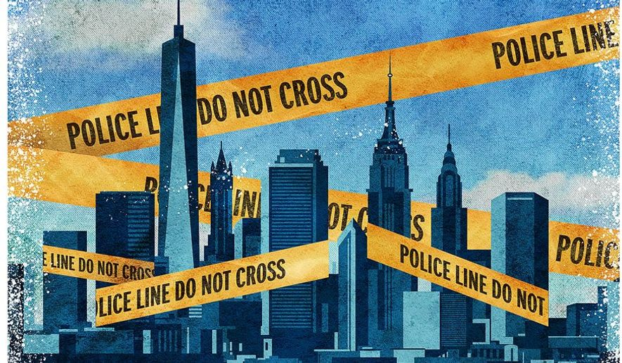 Crime in New York Illustration by Greg Groesch/The Washington Times