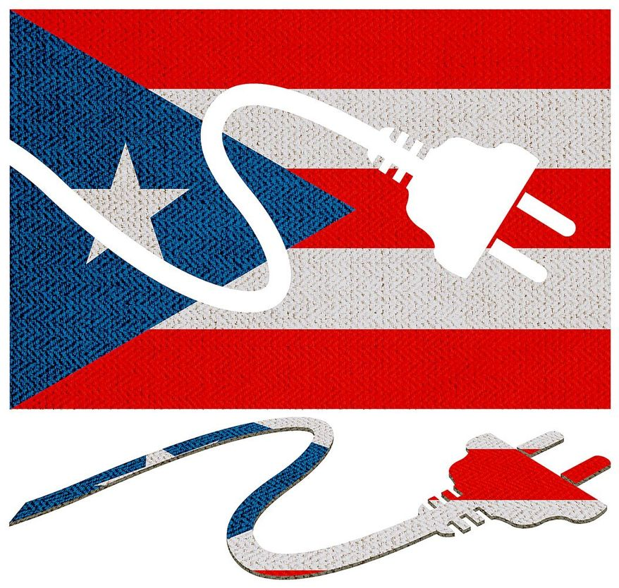Puerto Rico Power Problems Illustration by Greg Groesch/The Washington Times