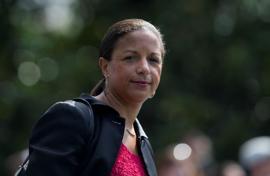 On Sunday, former National Security Adviser Susan Rice tweeted out a New York Times op-ed that advised President Trump to be quiet on the Iranian protests. (Associated Press)