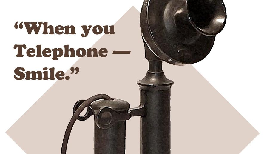 Illustration of a candlestick telephone (The Washington Times)