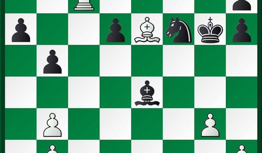 Shabalov-Lenderman after 34...Be4.