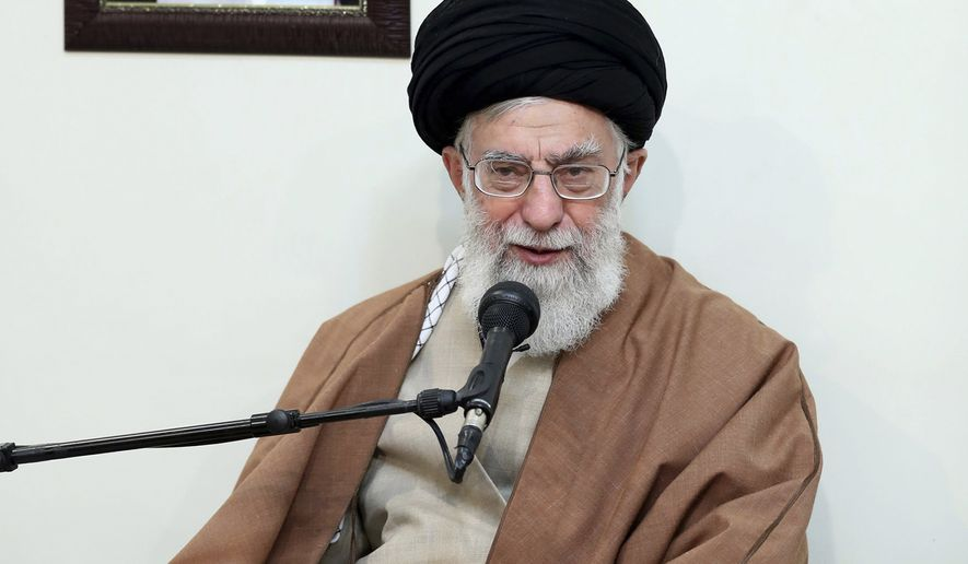 Iran's supreme leader, Ayatollah Ali Khamenei, is the target of protests in the Islamic republic. (Associated Press/File)