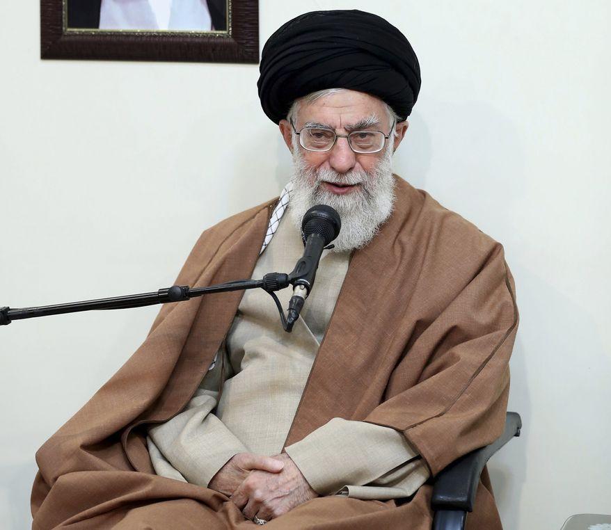 Iran's supreme leader, Ayatollah Ali Khamenei, is the target of protests in the Islamic republic. (Associated Press/File)