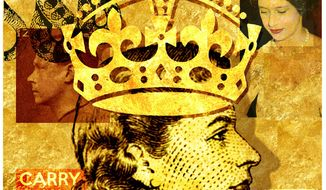 Illustration on Queen Elizabeth by Alexander Hunter/The Washington Times