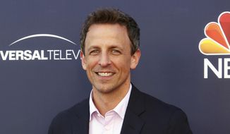 """Seth Meyers arrives at the """"Late Night with Seth Meyers"""" FYC event in Los Angeles in this May 19, 2017, file photo. Meyers will host the 75th Golden Globe Awards on Sunday, Jan. 7, 2018, on NBC. (Photo by Willy Sanjuan/Invision/AP, File)"""