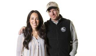 "In this March 29, 2016, file photo, Joanna and Chip Gaines pose for a portrait in New York to promote their home improvement show, ""Fixer Upper"" on HGTV. On June 23, Mr. Gaines announced on Twitter the birth of their fifth child. (Photo by Brian Ach/Invision/AP, File) **FILE**"