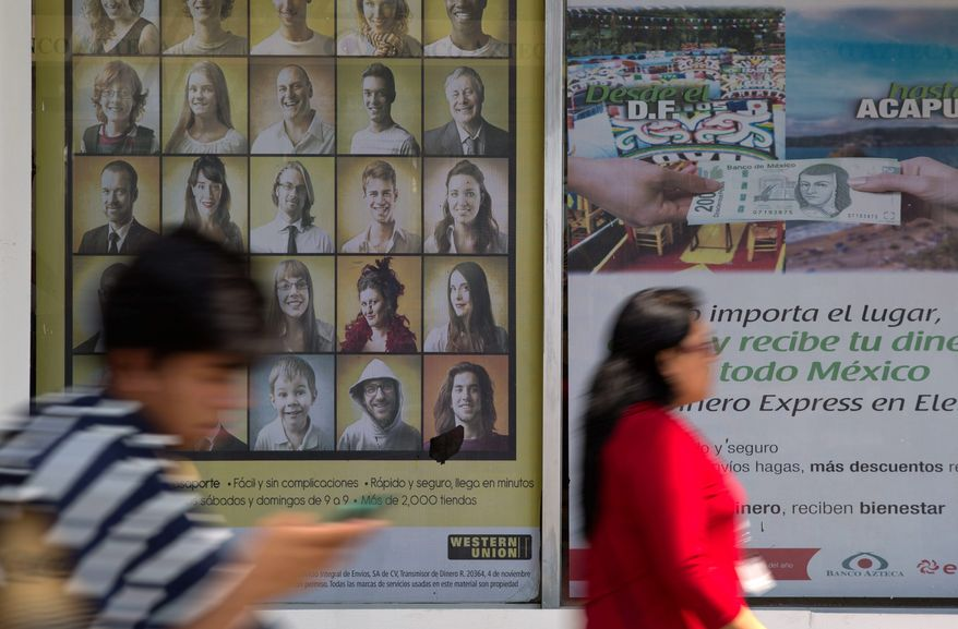 Money transfer services allow Salvadorans and others under temporary protected status to send remittances, adding greatly to the gross domestic product of their home countries. (Associated Press/File)