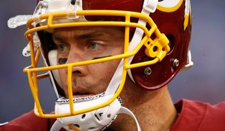 "Redskins coach Jay Gruden talked up Colt McCoy this week in his autopsy of his team's 7-9 season. When asked how comfortable he would be with the 31-year-old McCoy as the starting quarterback, Gruden answered, ""How comfortable? Colt McCoy has done an excellent job here. I've always been comfortable with Colt."" (Associated Press)"