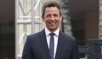 Seth Meyers will host the 75th annual Golden Globe Awards telecast on Sunday. (Associated Press)