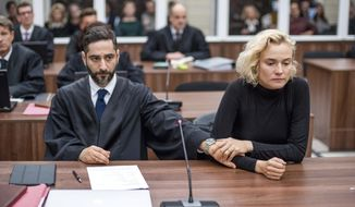 "This image released by Magnolia Pictures shows Denis Moschitto, left, and Diane Kruger in a scene from the film, ""In the Fade."" (Magnolia Pictures via AP)"