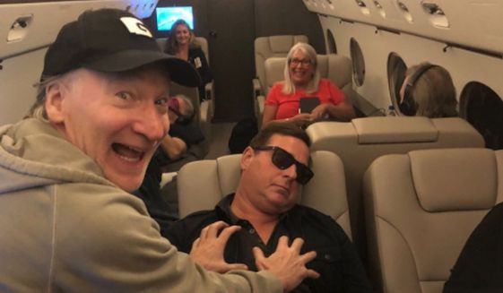 Bill Maher is being criticized on social media after he appeared to grope a sleeping Bob Saget in a photo mocking disgraced former Sen. Al Franken. (Twitter/@billmaher)