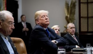 Both parties are eyeing a meeting between President Trump and a bipartisan group of congressional negotiators this week as the chance to make progress on an immigration bill, but Democrats have grown increasingly strident in their complaints about the president's stance. (Associated Press/File)