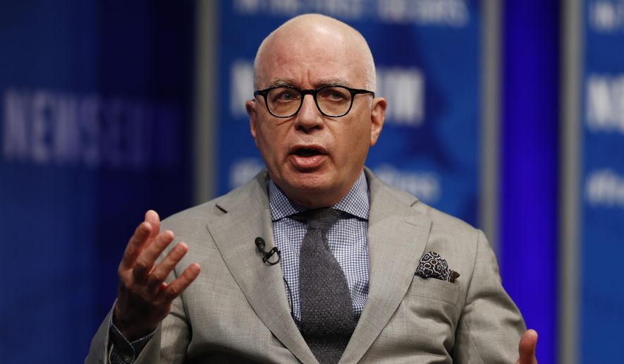 In this April 12, 2017, file photo, Michael Wolff of The Hollywood Reporter speaks at the Newseum in Washington. The author of an explosive book on President Donald Trump's administration is the target of a cease-and-desist letter from Trump's lawyers. And he's the focus of a campaign by the president's allies to cast doubt on the book's claim that Trump is a reluctant and troubled president. (AP Photo/Carolyn Kaster, File)