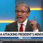 """Geraldo Rivera fiercely defended President Trump against accusations of mental incompetency Friday morning, saying the president has never been more capable and """"intellectually in charge of himself"""" than he is now. (Fox News)"""