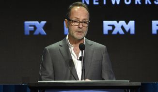 FILE - In this Aug. 9, 2017 file photo, John Landgraf, CEO of FX Networks and FX Productions, participates in the executive panel during the FX Television Critics Association Summer Press Tour at the Beverly Hilton in Beverly Hills, Calif.  Landgraf says an investigation into sexual misconduct by Louis C.K. found nothing involving his work for the company over the past eight years. The investigation followed a published report of misbehavior, Landgraf told TV critics Friday, Jan. 5, 2018. The network cut ties in November with C.K. after he admitted wrongdoing. (Photo by Chris Pizzello/Invision/AP, File)