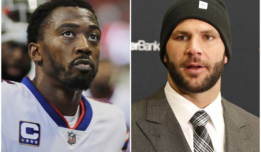 In this combination of photos shows Buffalo Bills quarterback Tyrod Taylor and Jacksonville Jaguars quarterback Blake Bortles. Taylor helped Buffalo end the longest, current postseason drought in North American pro sports (17 years) while Bortles led Jacksonville to its first playoff berth since the 2007 season. (AP Photo/David Goldman, Ron Schwane)
