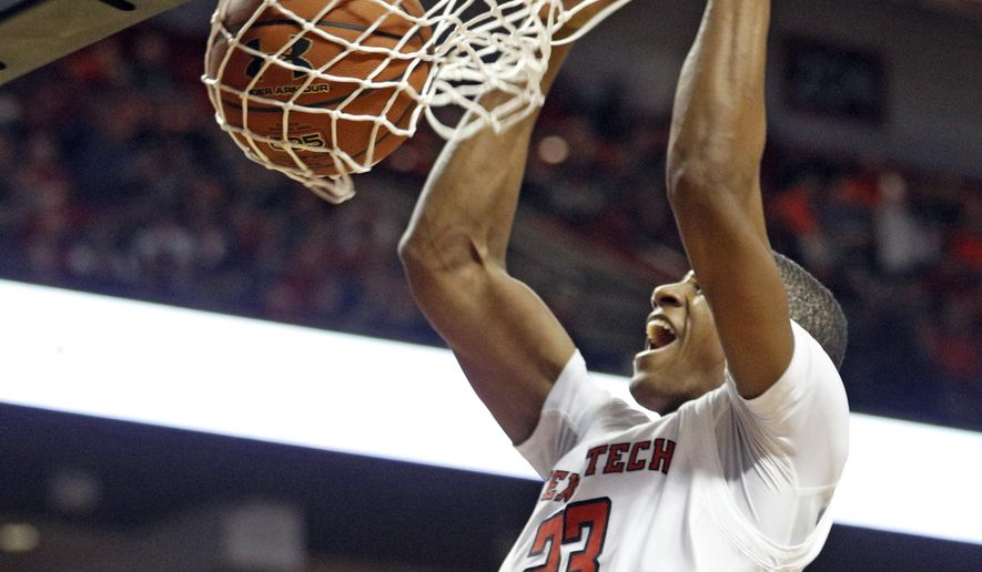 Texas Tech's Jarrett Culver (23) dunks ball during the first half of an NCAA college basketball game against Kansas State, Saturday, Jan. 6, 2018, in Lubbock, Texas. (AP Photo/Brad Tollefson)