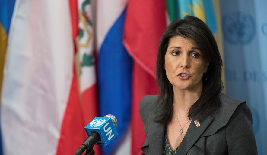 U.N. Ambassador Nikki Haley said on Sunday that the president's hard-line strategy would bring Pyongyang to the negotiation table. She noted, however, that the administration's demand for a denuclearized North Korea would have to be met before the idea of talks could be entertained. (Associated Press)