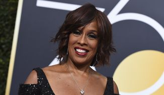 Gayle King arrives at the 75th annual Golden Globe Awards at the Beverly Hilton Hotel on Sunday, Jan. 7, 2018, in Beverly Hills, Calif. (Photo by Jordan Strauss/Invision/AP)