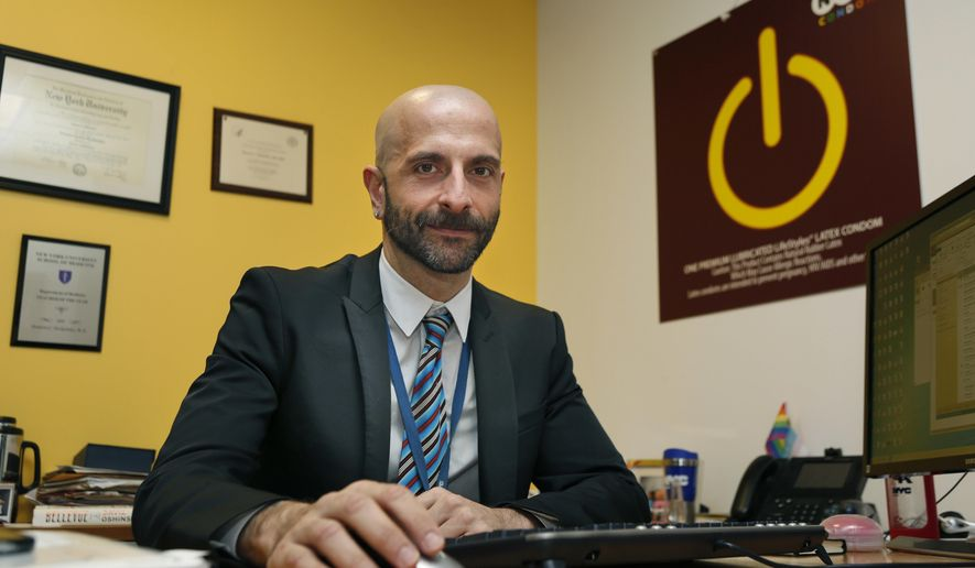 New York City Deputy Health Commissioner Demetre Daskalakis poses for a picture in his office in New York, on Wednesday, Dec. 20, 2017. In New York, roughly 30 percent of gay and bisexual men are using Truvada now, up dramatically from a few years ago, according to Daskalakis. However, he said usage among young black and Hispanic men - who together account for a majority of new HIV diagnoses - lags behind. (AP Photo/Seth Wenig)
