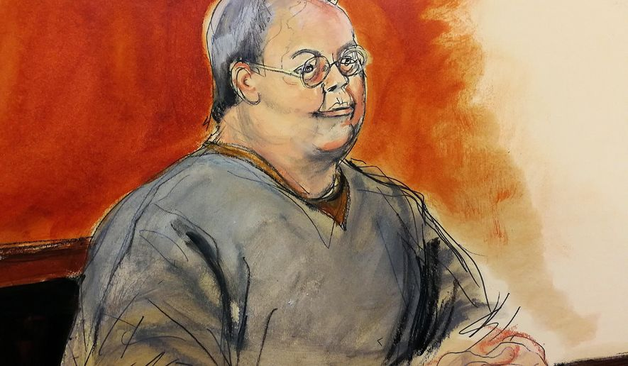 In this courtroom sketch, former Hong Kong home affairs secretary Dr. Chi Ping Patrick Ho  pleads not guilty to charges of corruption in a New York court, Monday, Jan. 8, 2018. He is charged with paying bribes on behalf of a Chinese energy conglomerate to the president of Chad and the Ugandan foreign minister. (Elizabeth Williams via AP)