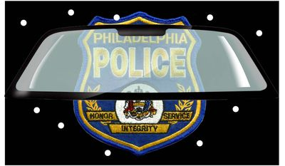 Illustration on bulletproof windshield for Philadelphia police cruisers by Alexander Hunter/The Washington Times