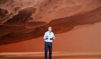 Intel CEO Brian Krzanich delivers a keynote speech at CES International Monday, Jan. 8, 2018, in Las Vegas. (AP Photo/Jae C. Hong)