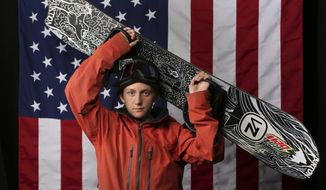 FILE - In this Sept. 27, 2017, file photo, U.S. Olympic Winter Games snowboarding big air hopeful Red Gerard poses for a portrait at the 2017 Team USA media summit, in Park City, Utah. If things go as planned, Gerard will walk away from the first Olympic Big Air contest with a gold medal around his neck. To hear the 17-year-old snowboarding phenom tell it, though, his greatest achievements dont lie ahead in South Korea. Instead, theyve been scattered about his own backyard for years.  Gerard learned some of his best tricks in the features park he and his brothers set up on the hill on the back side of his house in Silverthorne, a few miles from the Continental Divide and the Breckenridge ski resort. (AP Photo/Rick Bowmer, File) **FILE**