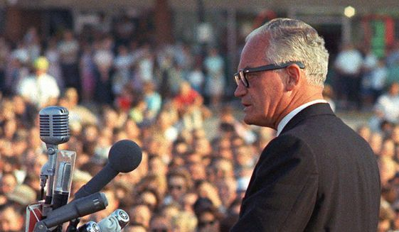 Barry Goldwater campaigning in 1964. (Associated Press) ** FILE **