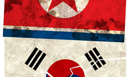 Illustration on the effects of Korean economic policy on international relations by Alexander Hunter/The Washington Times