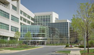 "A National Archives satellite facility in College Park, Md., commonly called ""Archives 2,"" is shown here. (Public domain via Wikimedia Commons)"