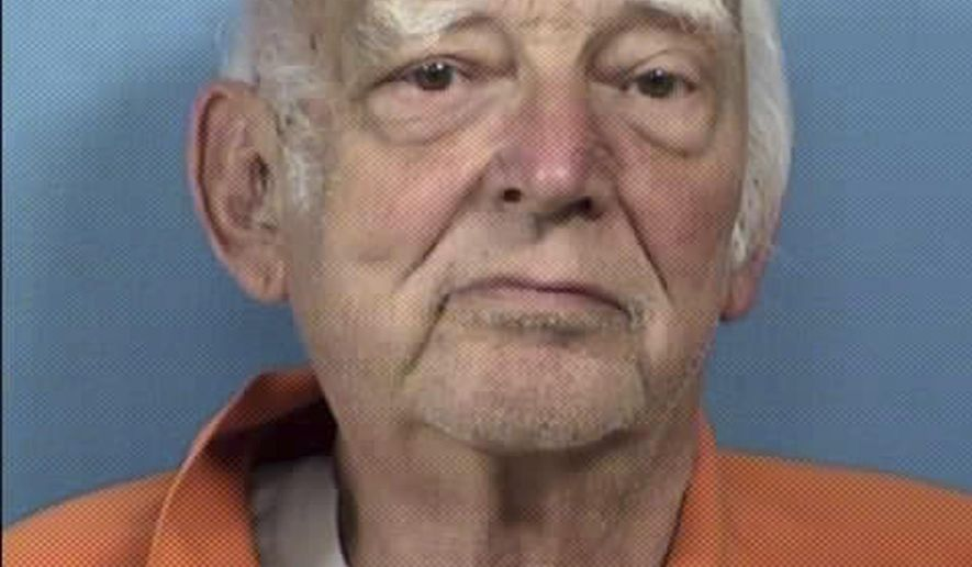 This undated photo provided by the DuPage County State's Attorney's Office shows Edward Klein. Klein, who was found mentally unfit to stand trial for the May shooting of an Amtrak conductor outside Chicago will be released to a secure senior living facility. An Illinois judge on Wednesday, Jan. 10, 2018, said he doubted Klein would be restored to fitness. Klein will go to a Wauwatosa, Wis., facility that specializes in care for patients with dementia. He is prohibited from leaving except for an emergency. (DuPage County State's Attorney's Office via AP)