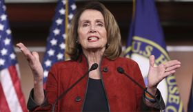 "House Minority Leader Nancy Pelosi, California Democrat, says President Trump's plan has ""zero"" chance of success. (Associated Press/File)"