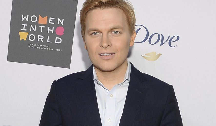 FILE - In this April 22, 2015 file photo, Ronan Farrow attends the Sixth Annual Women in the World Summit opening night in New York. Farrow, who has written extensively about sexual misconduct charges against Hollywood mogul Harvey Weinstein for the New Yorker magazine, has signed a three-year television deal with HBO. Farrow will develop and star in a series of documentary specials focused on the abuse of power by individuals and institutions, the network said. (Photo by Evan Agostini/Invision/AP, File)