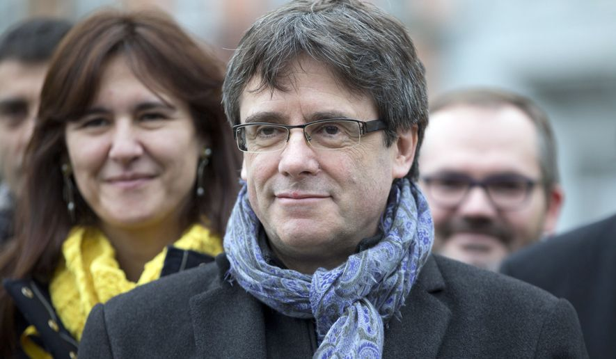 Catalan leader Carles Puigdemont fled to Belgium in November to escape arrest when Spain imposed direct rule on Catalonia in response to a declaration of independence by its regional government. (Associated Press/File)