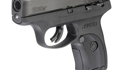 Ruger EC9s a striker-fired handgun featuring a short, light, crisp trigger pull for faster, more accurate shooting. It is Slim, lightweight and compact for personal protection. Safety features include integrated trigger safety, manual safety, magazine disconnect and an inspection port that allows for visual confirmation of a loaded or empty chamber.