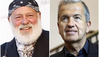 This combination of 2008 and 2017 photos shows photographers Bruce Weber, left, and Mario Testino. On Saturday, Jan. 13, 2018, The New York Times reported that male models have accused Weber and Testino of unwanted advances and coercion. (AP Photo/Matt Sayles, Michael Sohn)