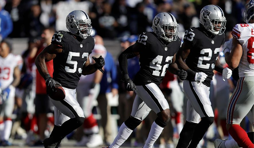 The Oakland Raiders' agreement with Nevada allows the team to break the lease and look for another home if the state attempts to impose new taxes over the next 30 years on the team, stadium, fans or players. Taxpayers shelled out $750 million to build a stadium for the team. (Associated Press)