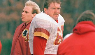 If former Washington Redskins offensive tackle Joe Jacoby gets into the Pro Football Hall of Fame, the list of remaining Redskins worth induction into Canton gets a lot smaller. (Associated Press)