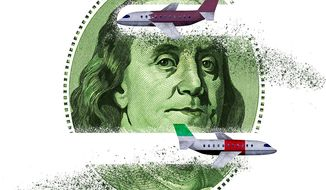 Unfair Trade Practices in Commercial Air Travel Illustration by Greg Groesch/The Washington Times